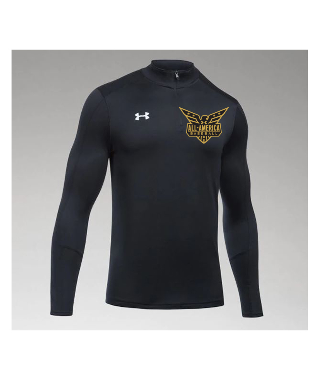 UNDER ARMOUR MEN/'S FITTED MOCK BLACK STYLE 1248945 001
